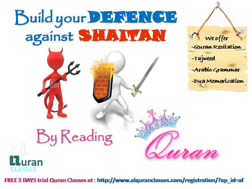 build defence against shaitan