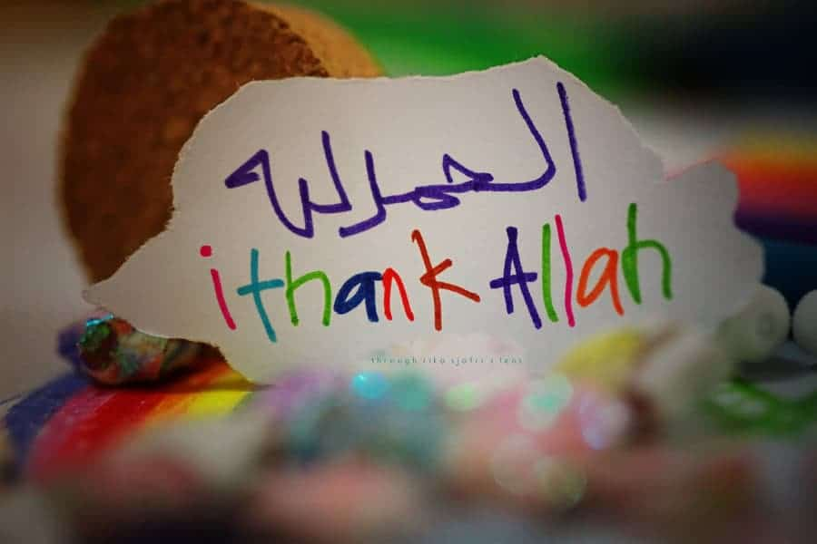 say Alhumdulillah, thank Allah