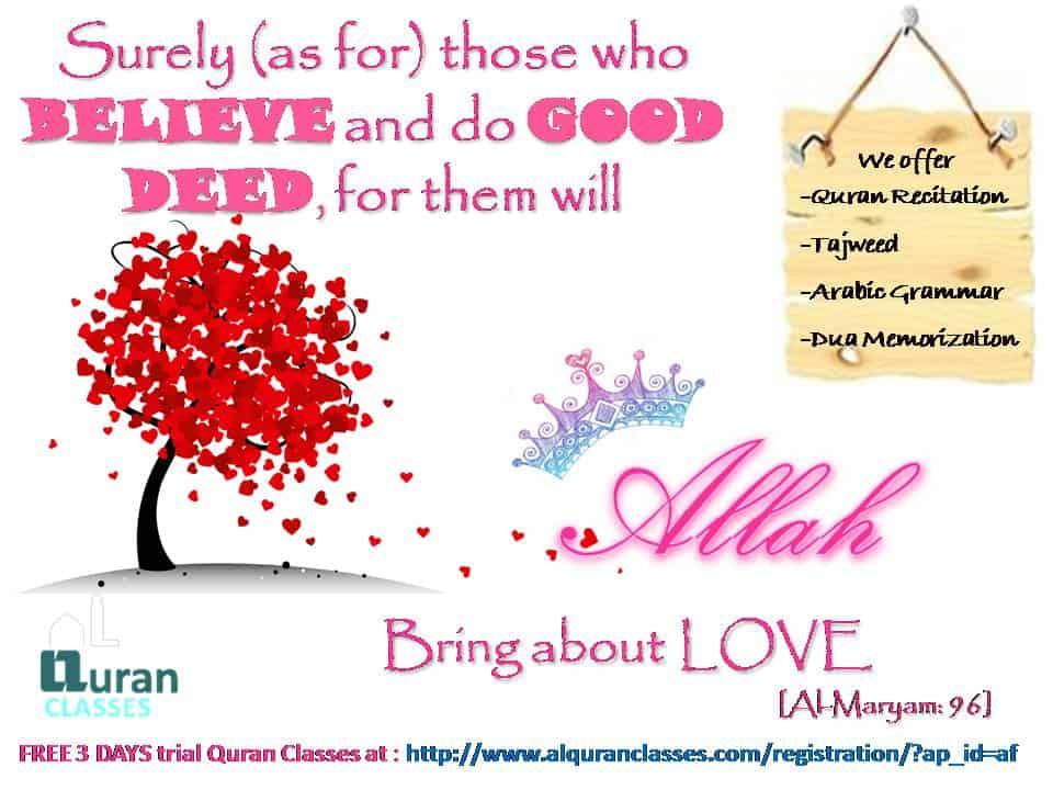 love of ALLAH, surah maryam 96