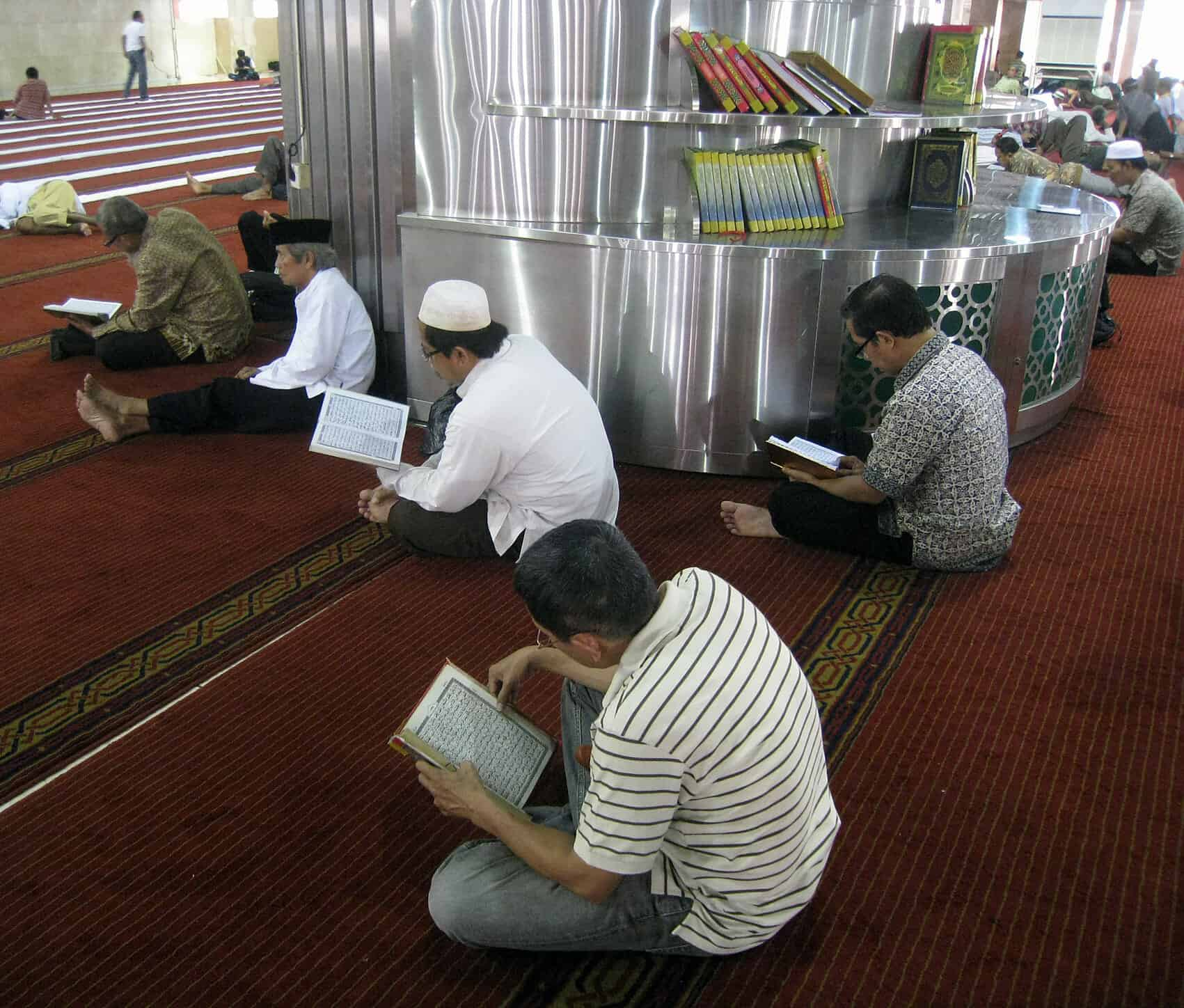 reciting Holy quran