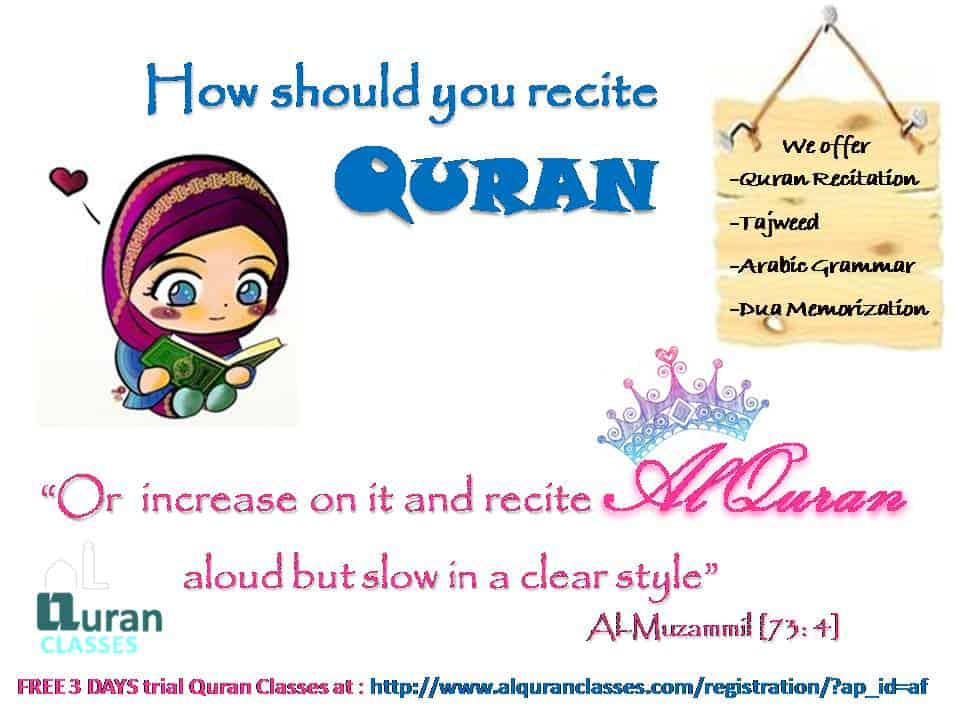 recite quran with tajweed